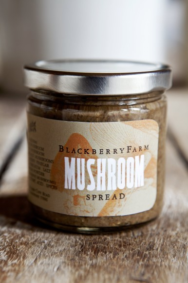 Blackberry Farm mushroom spread jar