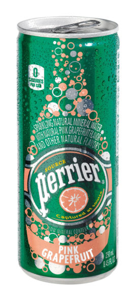 Perrier slim can pink grapefruit