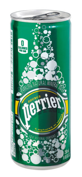 Perrier slim can tradi