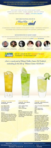 Ultimat Vodka Lemon-Aid Stand Kick Off Invite FC with recipes