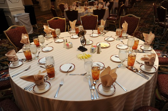TOTC 2012 Dame Hall of Fame luncheon table set
