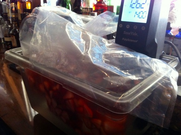 Charles Steadman Strawberries sous vide machine