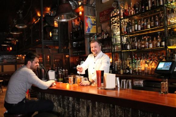 Danilo Bozovic Odd Job bartender and guest shot