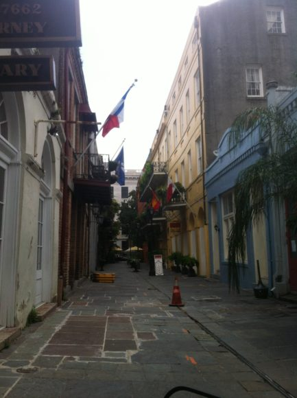 New Orleans narrow alley slightly larger