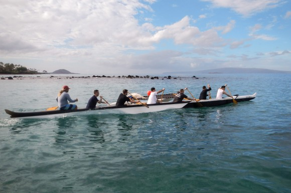 Andaz Maui chefs paddling