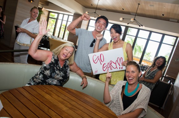 Andaz Maui friends and family cheering