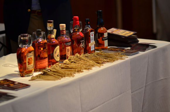 Whisky Live multiple bottles with Russell's and Michter's etc